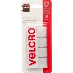 "Velcro Sticky Back Fasteners 7/8"" Squares Pkg of 12"