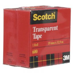 3M Transparent Tape Refill. 19MM. 2 per Package