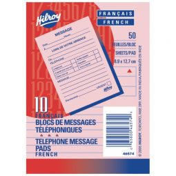 """Hilroy Telephone Message Pad 3.5"""" X 5"""" 50 Sheets"""