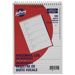 Hilroy Voice Mail Log Book