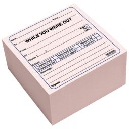 "Blueline Self-Adhesive Telephone Message Cube 4"" X 4"" X 2"" 512 Sheets English"