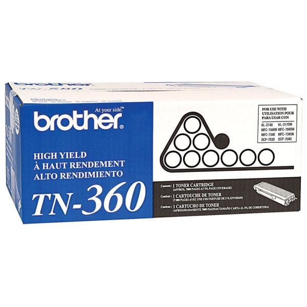 Brother Laser Cartridge High Yield TN-360 2.6k Pages