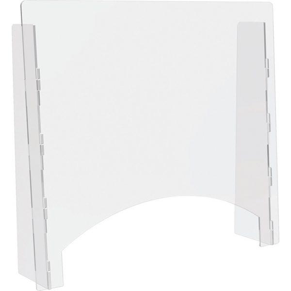 "Barrier w/passthru 27x23.75"" Acrylic"