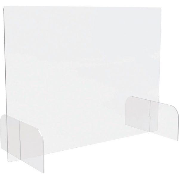 Safety Barrier Shield w/feet Acrylic