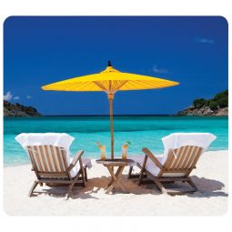 recycled mouse pad. Caribbeau beach