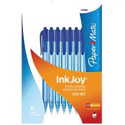 PEN INKJOY 100RT BLUE 8/PACK