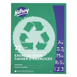 Hilroy® 1/2 Plain, 1/2 Interlined Ruling, 72 pages